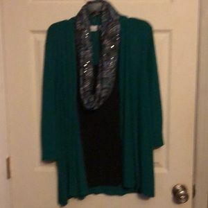 XL Kim Rogers shirt with scarf
